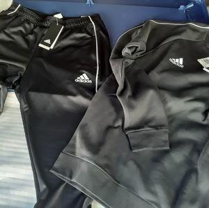 Adidas Core 18 Training Top&bottom BLK/white NEW